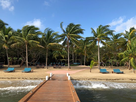 view of the resort beach from the pier