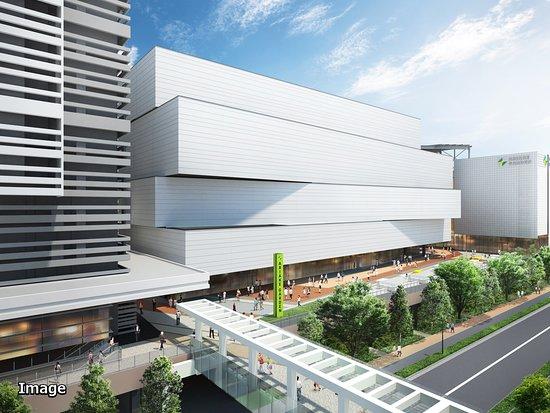 外観 / 有明駅側からの南側デッキと建物外観