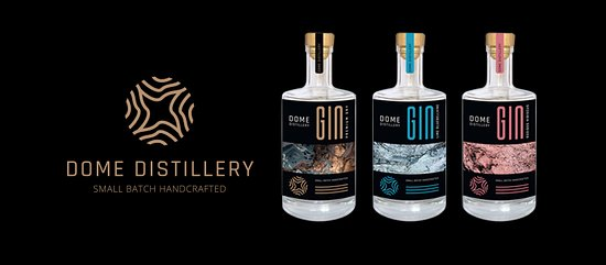 Potchefstroom, África do Sul: We currently produce three small batch handcrafted gins: Premium Dry, Rooibos & Hibiscus and Lime & Bluebellvine.  Please see our Facebook page for when Tasting / Distillery tour events are available. https://www.facebook.com/domedistillery