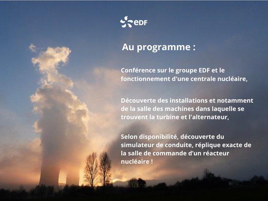 Découvrez le programme des visites de la centrale nucléaire de Chooz, on vous attend !
