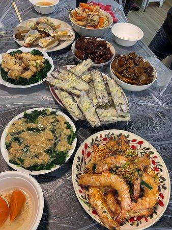 豐富的海鮮大餐
