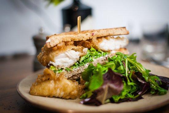Lunch - Ale Battered Fish Finger Sandwich