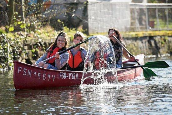 Canoe tour through the Leipziger...