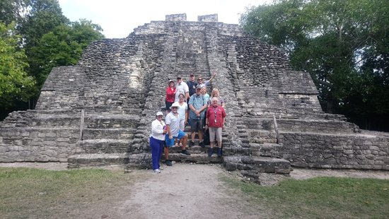 LDS Tour to Coba Ruins and Cenote: All of us with Alma.