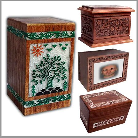 Bijnor District, Индия: cremation urns manufacturer from Nagina Distt. Bijnor Uttar Pradesh in India. We take immense pleasure to introduce ourselves as the famous manufacturer and direct online retailer seller of Hand Crafted Wooden Cremation Urns. Human Urns for ashes, Pet Urns for ashes. Wood Turn Urns, furthermore Cremation Jewelry, likewise, Wooden Funeral urns for ashes adult. Similarly, Wooden memorial Products, Brass Cremation Urns. Brass Metal Pet Cremation and Bronze Metal Cremation. Best in class material ar