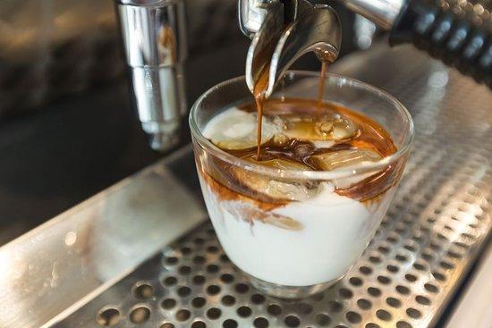 Ice latte coffee