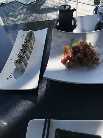 Excellent sushi with an amazing view