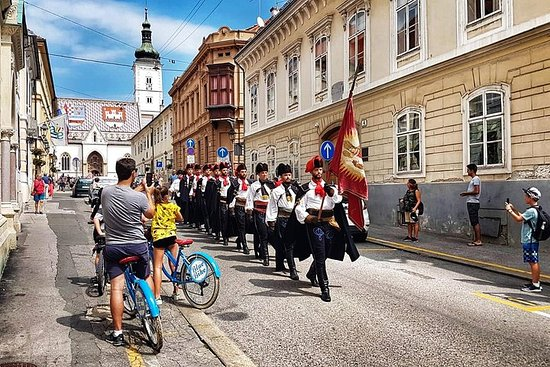 Promenade en vélo dans l'ancien Zagreb
