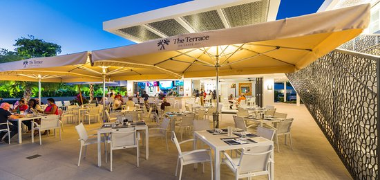 Enjoy a laid back atmosphere at The Terrace on Grace Bay
