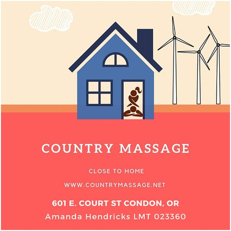 Condon, OR: Country Massage is local and close to home
