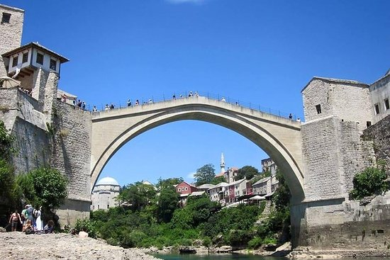 From Split or Trogir: Private Tour to Mostar and Počitelj tapestry