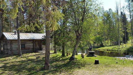 Old Smoke Sauna on the riverside.