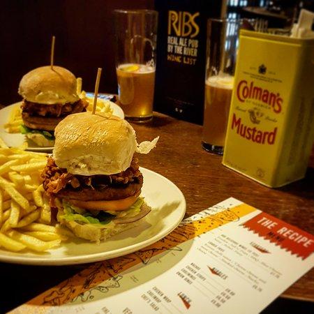 Amazing burger menu, great beers