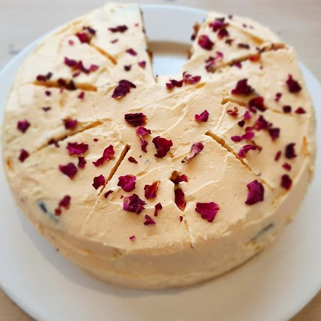 Rhubarb & Custard Cake - there's always plenty of sweet options to choose from!