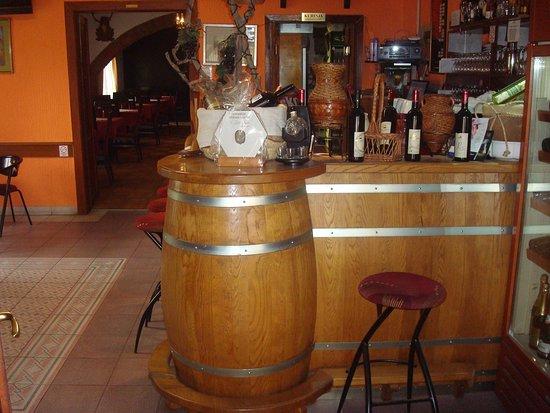 Slatina, Horvátország: The bar area