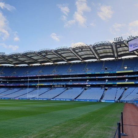 Not one of old historical buildings, but still realy great to visit. Its 3rd largest stadium in Europe and you only feel this when you get to the top.   Great tour guide. Recommend as addition to the museum visit. A must when you visit Dublin.