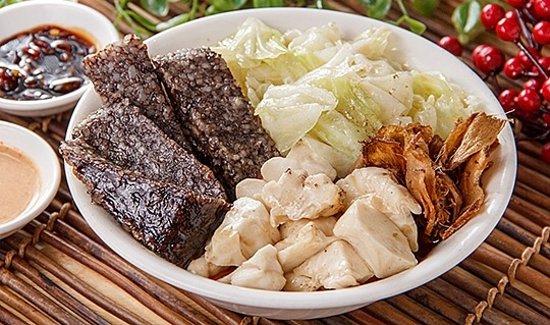 三小菜(米血糕、養生菇、高麗菜)