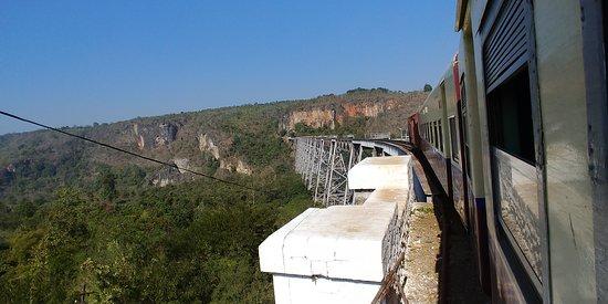 Наунгкио, Мьянма: Gokteik Bridge form the Train