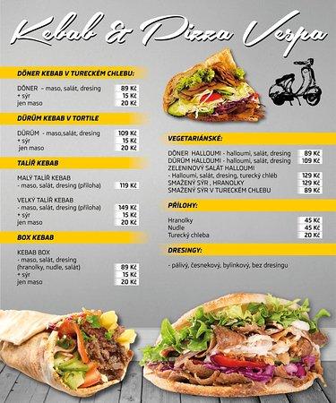 Moravsky Krumlov, República Checa: Kebab menu