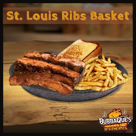 St. Louis Ribs with fries and Bubba Bread