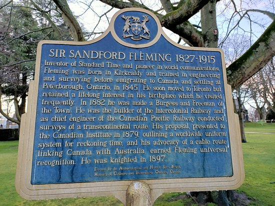 Sir Sandford Fleming Historical Plaque