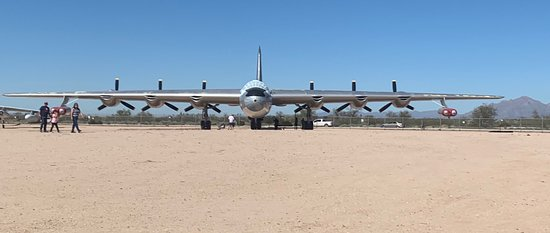 The B36 bomber - the largest on site (the people in the photograph were really close and do not do justice to size of the bomber)