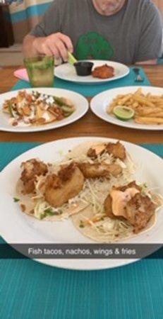 Fish tacos, nachos, wings & fries - Seaside Grill