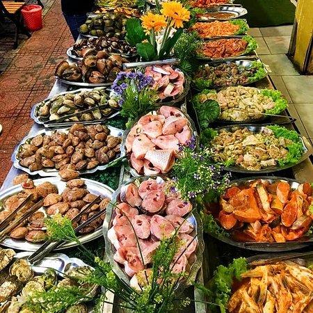 line buffet hải sản