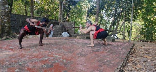 Kattoor, India: Kalarippayattu Class in Alappuzha