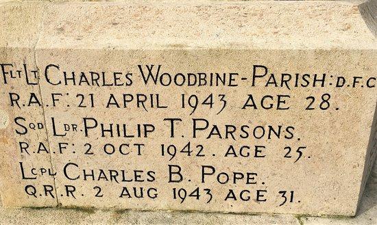 16.  Burwash War Memorial, Burwash, East Sussex;  Second World War fatalities