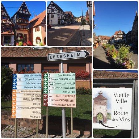 Fina Ebersheim, en av byarna längs Route des Vins i Alsace. En trevlig by med flera vingårdar. Vi var där när skörden startade i september 2019
