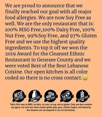 Flushing, MI: Food Allergies and Awards