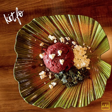Craving Kitfo?? . Then there's no time like the present to stop by @feedelbistro to try ours!👌🏾👍🏾 .  Prime beef tartare seasoned with clarified butter, Chili powder and accompanied by Ayeb & collard greens. (Can be served raw, lightly sautéed or cooked.) See for yourself why this delicacy is one of our most famous dishes! 😉