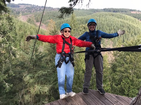 North Plains, OR: Pumpkin Ridge Zip Tour