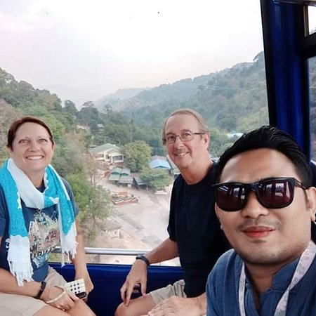 """Kyaikto, Birma: I went to golden rock pagoda trip with my canada guests... thank you. So much for used to my transportation service .... If you would like to use my transportation services at myanmar"""" please  contact my whatapp number +959250640351"""