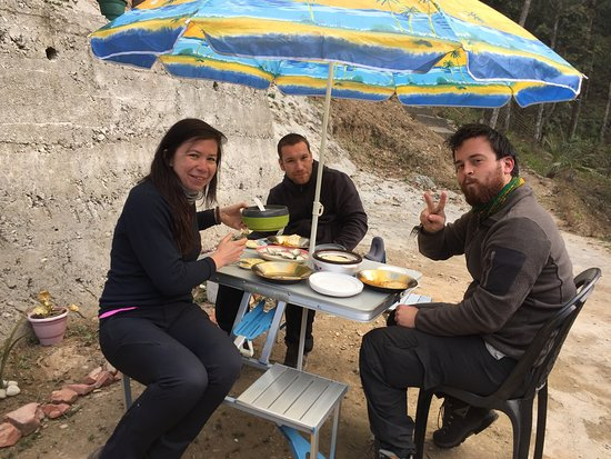 South Sikkim, India: Breakfast