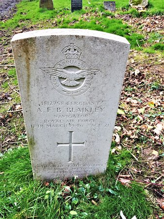 25.  St Bartholomew's Church, Burwash, East Sussex;  the Commonwealth War Grave of Sergeant A Blaikley