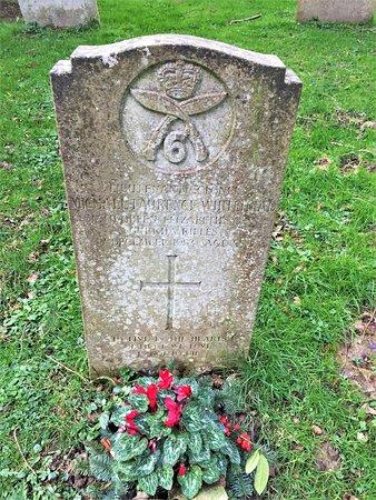 26.  St Bartholomew's Church, Burwash, East Sussex;  the grave of Lieutenant Colonel M L Whuitehead
