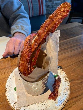 Colorado City, CO: Amazingly delicious candy bacon appetizer!