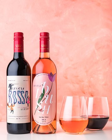 The best of both worlds! Sip on our house-red the CinCin Rosso, or the very young and light, CinCin Blush