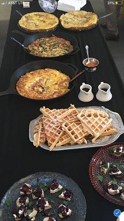Margaretville, NY: Catered brunch spread