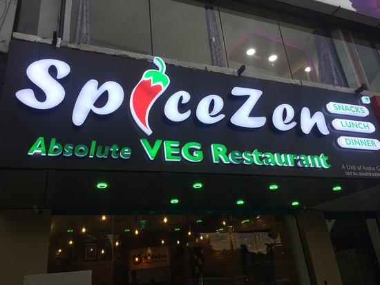 Tambaram, India: SpiceZen VEG Restaurant Exterior. .