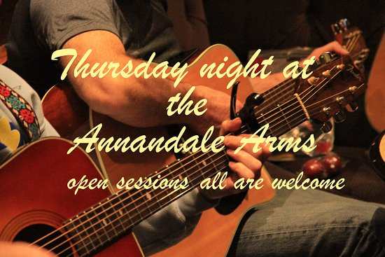Moffat, UK: Open acoustic music sessions are held every Thursday night at the Annandale Arms Hotel. Everyone is welcome to join in and play, sing or just come and listen.