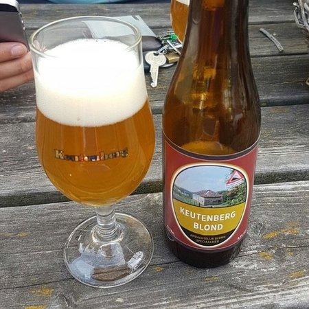 Schin op Geul, Nederland: Genieten van ons eigen gebrouwen keutenberg blond bier en diverse menukaart