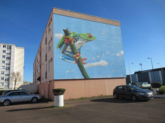 """Fresque """"Une grenouille aux Courlis"""""""