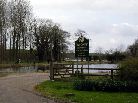 Barton Stacey, UK: The exclusive Dever Springs trout lake