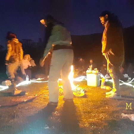 Certainly it is cold but we are accompanied by friends we no longer feel this cold. The place is the tiaret forest. Group of young people around a fire in nature playing the famous game Werewolf. Thank you.  🎅🎅🎅🎅🎅🎅🎅 Photographed by M.Bensoula