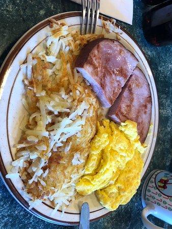 Running Springs, Kalifornie: Desayuno huevos con jamón