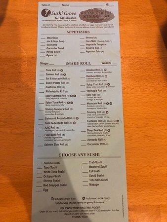 Buffalo Grove, IL: Sushi Grove