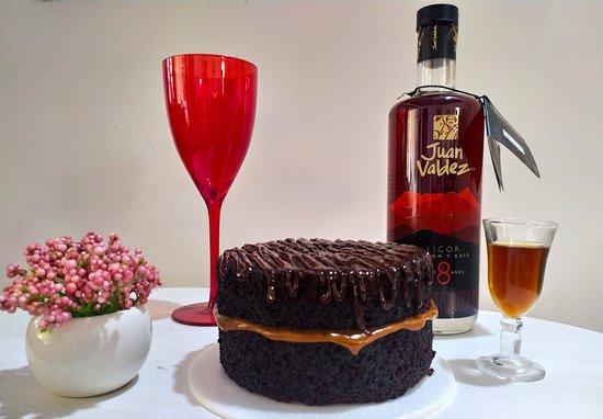 Garzon, Колумбия: Torta de Chocolate y Arequipe